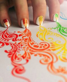 Art on nails and paper