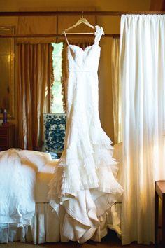 gorgeous one-shoulder #wedding gown | Landon Jacob