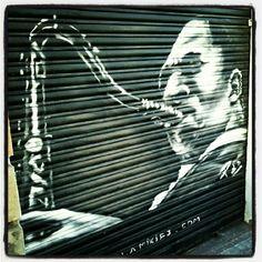 Sax Machine #graffiti #streetart #vallcarca #barcelona #sax