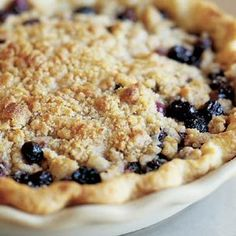 Blueberry Crumble Pie - super easy to make and always delicious.  If you're making your own crust, try adding a dash of cold vodka to the dough when mixing - makes it easier to handle and bakes off while in the oven.  I swear by it.