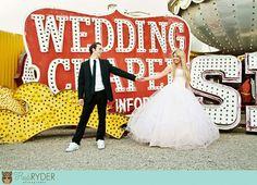 Neon graveyard wedding