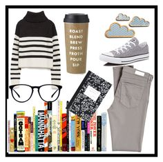 """""""Untitled #29"""" by aleksaroyus on Polyvore featuring Zara, AG Adriano Goldschmied, Converse, Kate Spade and Dot & Bo"""