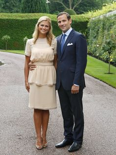 Pin for Later: This Swedish Princess Has a Trendy Wardrobe Fashion Girls Will Fall in Love With A Neutral-Colored Short-Sleeved Dress So Perfect For a Banquet