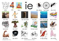 Woorden klank /ie/. Afbeelding