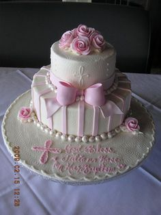 Aunt Audrey's Favourites offers and Unlimited Selection of Cakes designed for all celebrations Pretty Cakes, Beautiful Cakes, Amazing Cakes, Christening Cake Girls, Baptism Cakes, Cupcakes, Cupcake Cakes, Religious Cakes, First Communion Cakes