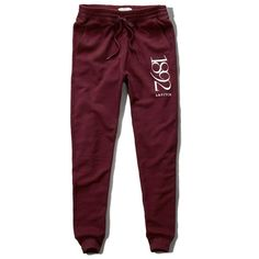 Abercrombie & Fitch Jogger Sweatpants ($29) ❤ liked on Polyvore featuring activewear, activewear pants, burgundy, cuffed sweatpants, abercrombie & fitch, abercrombie fitch sweatpants, purple sweat pants and jogger sweatpants