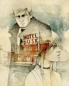 Hotel Dusk elia illustration | blog elia, illustration