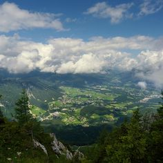 Aerial view of Berchtesgaden, Bavaria, Germany