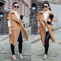 Three Floor  Coat, J Brand Trousers, Saint Laurent Clutch, Jennie Ellen Heels