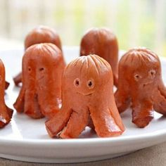 Octopus sausages. These fun little Hallo-weenies are nothing more than pan-fried hot dogs that sprouted legs!