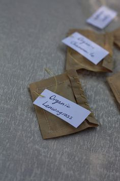 Easy Peasy Organic - Sustainable Food, Home and Life: Special Homemade Tea Bags
