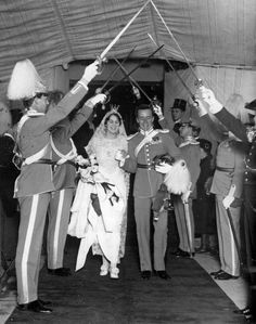 Wedding of Count Folke Bernadotte and Estelle Romaine Manville in New York 1928