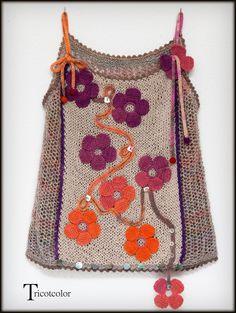 Tricotcolor: Top fleuri