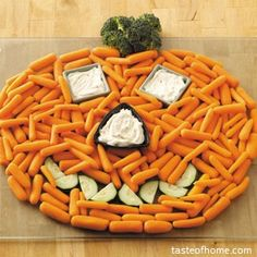Carrots or Cheez-Its and dip.