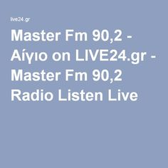 Master Fm 90,2 - Αίγιο on LIVE24.gr - Master Fm 90,2 Radio Listen Live