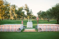 Photography: Justin And Keary Weddings - justinandkeary.com/  Read More: http://www.stylemepretty.com/southwest-weddings/2014/03/19/budget-friendly-diy-scottsdale-country-club-wedding/