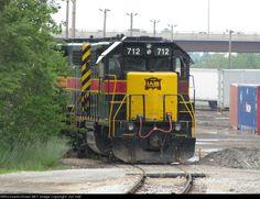 IAIS 712   Description:    Photo Date:  6/4/2010  Location:  Blue Island, IL   Author:  Jon Hall  Categories:    Locomotives:  IAIS 712(GP38-2)