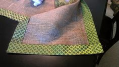 DIY No Sew Burlap Table Runner... Burlap and wide ribbon. Doesn't get much easier than that