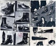 Analysing Fashion through Goth catalogue styles Disco Costume, 80s Shoes, 80s Goth, Gothic, Goth Boots, Bad Fashion, New Romantics, Punk Outfits, Big Hair