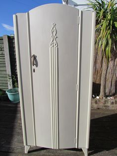 Lebus wardrobe painted in Autentico Chalk paint Almond and Antique White and clear waxed.