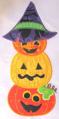 LOOK HOW CUTE THESE PUMPKINS ARE - Halloween Pumpkin Stack Machine Applique Embroidery by KCDezigns, $3.50