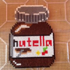 Nutella jar hama perler beads by Perler Bead Queen