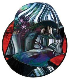 Awesome Vader stained glass