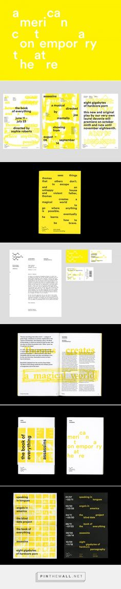 American Contemporary Theatre by Bryan Chu — The Brand Identity - created via https://pinthemall.net