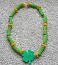 St. Patrick's Day Pasta Necklace from All Kids Network