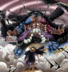 One Piece Drawing, One Piece 1, One Piece Fanart, Kaido Vs Luffy, Kaido One Piece, One Peace, Monkey D Luffy, Chef D Oeuvre, Photo Quotes