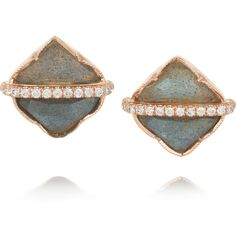 Brooke Gregson 18-karat rose gold, labradorite and diamond earrings (30.590 BRL) ❤ liked on Polyvore featuring jewelry, earrings, fine jewelry, gold, 18k earrings, diamond earrings, diamond fine jewelry, earrings fine jewelry and rose gold jewelry