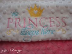 Custom Designed Personalized Minkee Baby Blankets.  Starting at $50.  Order yours today at www.sun7designs.com #minkee #babyblankets
