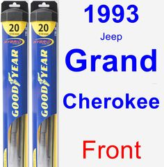 Front Wiper Blade Pack for 1993 Jeep Grand Cherokee - Hybrid