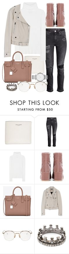 """""""Untitled #20375"""" by florencia95 ❤ liked on Polyvore featuring Yves Saint Laurent, 3.1 Phillip Lim, Gianvito Rossi, Thom Browne, Loree Rodkin and Marc by Marc Jacobs"""
