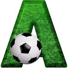 Abecedario Campo de Fútbol. Soccer Field Alphabet. Soccer Banquet, Soccer Party, Sports Party, Soccer Games, Football Soccer, Soccer Ball, Happy Birthday Football, Football Birthday, Anniversaire Hello Kitty