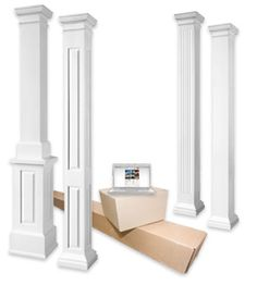Interior living room columns hudson bay southern for Crown columns fiberglass