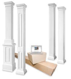 Interior Columns fluted square interior column | interior columns | pinterest