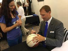John Pelphrey signing autographs at Kentucky High School Basketball Hall of Fame tonight