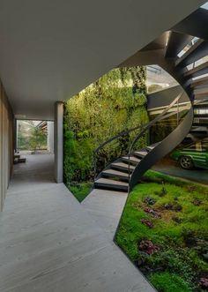 Projekty, translation missing: pl.style.korytarz-przedpokój-i-schody.minimalistyczny Korytarz, przedpokój i schody zaprojektowane przez guedes cruz arquitectos
