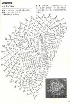 "Photo from album ""Suteki Pineapple Crochet Laces - on Yandex. Crochet Doily Diagram, Crochet Pillow Pattern, Filet Crochet, Crochet Motif, Crochet Thread Patterns, Crochet Designs, Crochet Stitches, Crochet Books, Crochet Art"