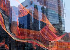 Artist Janet Echelman creates aerial rope sculpture in Boston