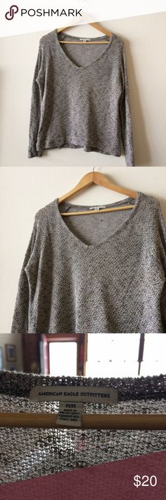 American Eagle Open Knit Top Super soft and light, great used condition. American Eagle Outfitters Tops