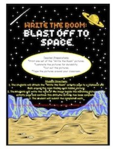 Blast off to Space and Exploring the Universe - Write the