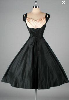 RESERVED FOR P1950s Black Vintage Dress by VintageDressUpStore