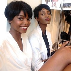 Short relaxed hair with perfect cuts.