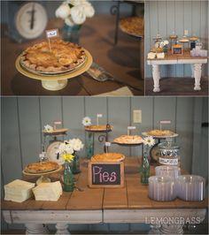 Kristen+Paul   Details of a country wedding » Indianapolis wedding photographer   Indiana photographer Lemongrass Photography. Pie!