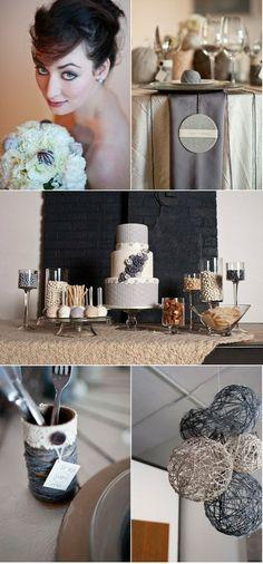 Gray wedding decor