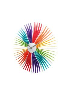 Rainbow Oopsy Daisy Wall Clock by Karlsson by Present Time on Gilt Home