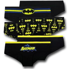 The Batman Black & Yellow Women's Panty is three different pairs of Bat-themed panties from DC Comics! The perfect Batman accessory! Superman Outfit, Batman Outfits, Edgy Outfits, Cute Outfits, Rock Outfits, Hipster Underwear, Punk Fashion, Black N Yellow, Bikinis