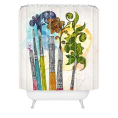 <3 <3 <3 <3  --  ADC            Valentina Ramos Brushtopia Shower Curtain   DENY Designs Home Accessories